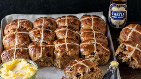 Sam Linsell's Castle Milk Stout Fruit Buns