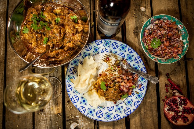 Cape Malay chicken curry with Drostdy-Hof Adelpracht 2 LR