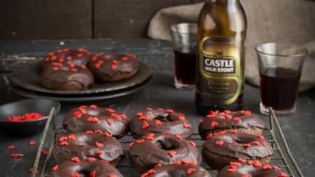 Drizzle and Dip Chocolate Stout Doughnuts with a Chocolate Glaze