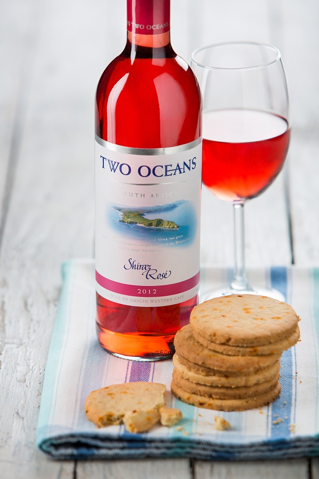 Two Oceans Shiraz Rose with Chilli Digestives