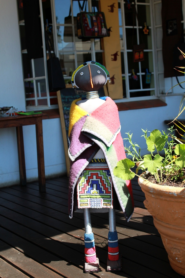 You find this traditional doll at he African Market Restaurant