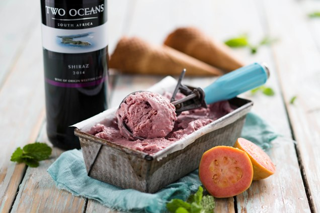 Two Oceans Wines Shiraz and gluwein ice cream