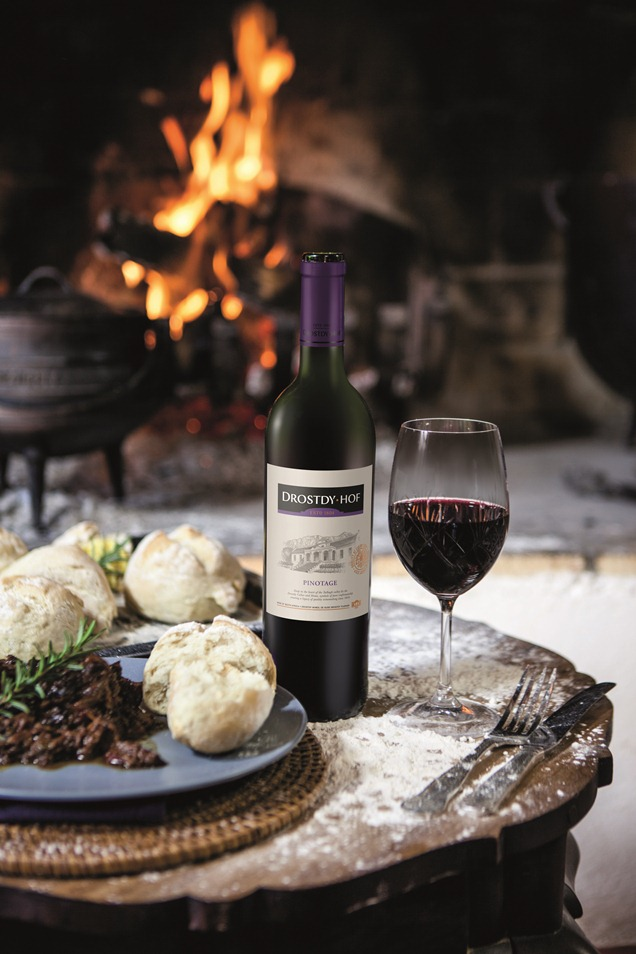Oxtail, prune and port potjie with Pinotage