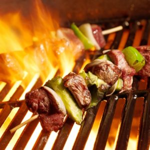 Heritage Day Marinated Steak Sosaties With Peppers