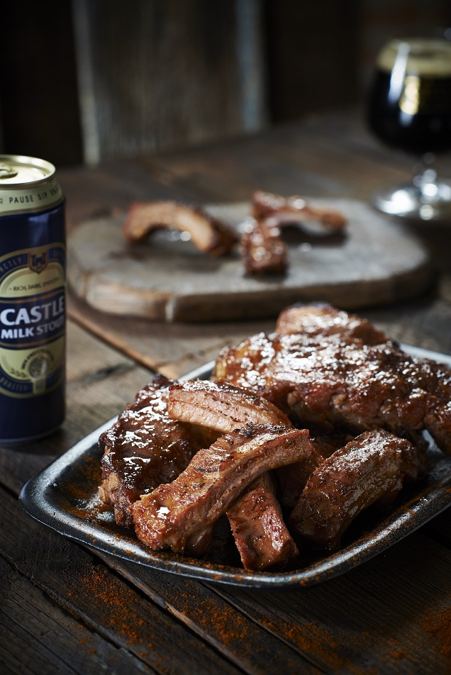 J'Something Sticky Stout Ribs with Castle Milk Stout