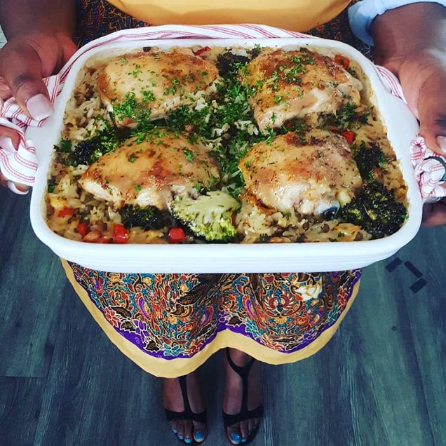 Baked Chicken and Coconut Rice