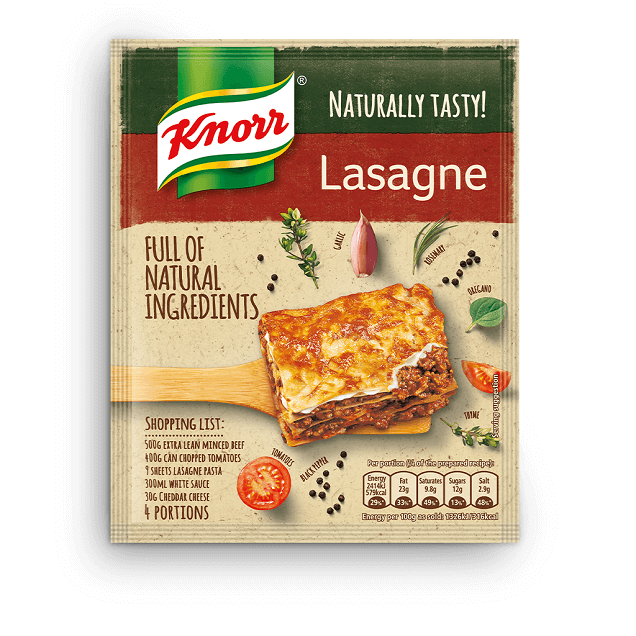 Knorr Naturally Tasty Lasagne